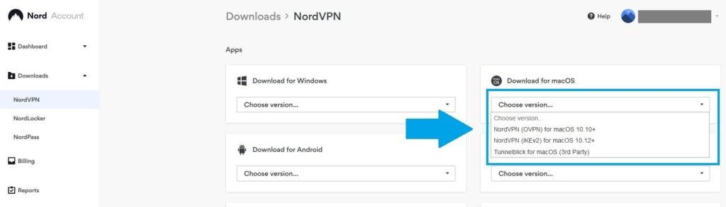 nordvpnのmacアプリダウンロード