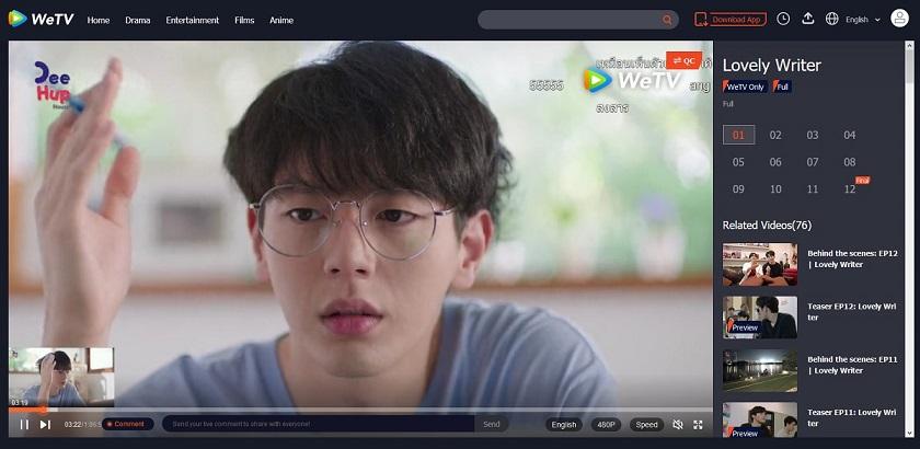 タイ版WeTVでLovely Writerを見た